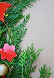 Beira decorativa do Natal Fotos de Stock Royalty Free