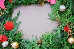 Beira decorativa do Natal Imagem de Stock Royalty Free
