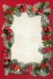 Beira decorativa do Natal fotos de stock
