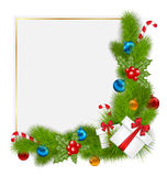 Beira decorativa dos elementos tradicionais de um Natal Imagens de Stock Royalty Free
