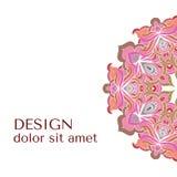Beira decorativa floral abstrata Projeto do teste padrão do laço Fotografia de Stock