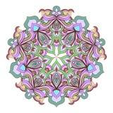 Beira decorativa floral abstrata Projeto do teste padrão do laço Imagem de Stock Royalty Free
