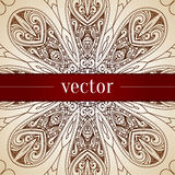 Beira decorativa floral do círculo do vetor do vintage Foto de Stock