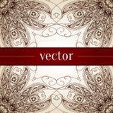 Beira decorativa floral do círculo do vetor do vintage Imagem de Stock Royalty Free