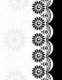 Beira decorativa preto-branca Fotos de Stock Royalty Free