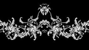 Beira decorativa, quadro Teste padrão barroco Vetor sem emenda ilustração stock