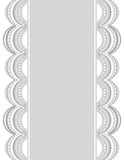 Beira decorativa white-gray_center_2 Fotos de Stock Royalty Free