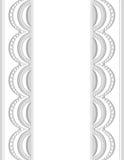 Beira decorativa white-gray_center_1 Fotografia de Stock
