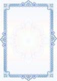 Beira/diploma ou certificado clássico do guilloche Fotos de Stock Royalty Free