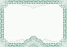 Beira/diploma ou certificado clássico do guilloche Fotos de Stock