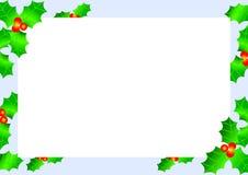 Beira do azevinho do Natal Imagem de Stock Royalty Free