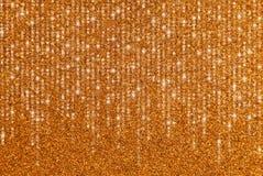 Beira do brilho do ouro com luzes de conexão em cascata imagem de stock