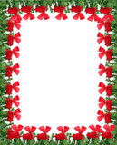 Beira do cartão do Natal Fotografia de Stock