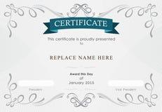 Beira do certificado, molde do certificado Ilustração do vetor Foto de Stock Royalty Free