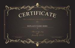 Beira do certificado, molde do certificado Ilustração do vetor Foto de Stock