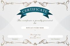 Beira do certificado, molde do certificado Ilustração do vetor Imagens de Stock Royalty Free