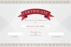 Beira do certificado, molde do certificado Ilustração do vetor Imagem de Stock Royalty Free