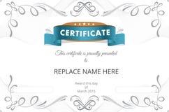 Beira do certificado, molde do certificado Ilustração do vetor Imagem de Stock