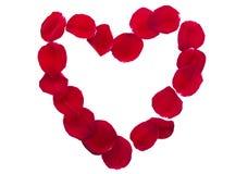 Beira do coração dos Valentim sobre o branco Imagens de Stock Royalty Free