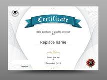 Beira do diploma do certificado, molde do certificado Illustr do vetor ilustração royalty free