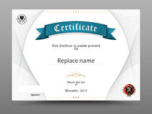 Beira do diploma do certificado, molde do certificado Illustr do vetor Foto de Stock