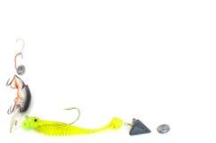 Beira do equipamento de pesca Fotografia de Stock