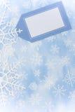 Beira do floco de neve fotos de stock royalty free