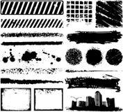 Beira do frame de Grunge ilustração stock