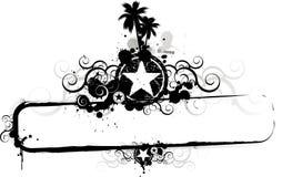 Beira do frame de Grunge do verão ilustração do vetor