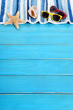 Beira do fundo da praia do verão Foto de Stock