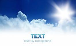Beira do fundo do céu azul Imagens de Stock