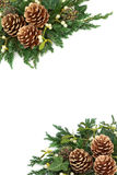 Beira do fundo do Natal Imagem de Stock Royalty Free