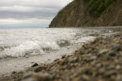 Beira do lago de Baikal Imagem de Stock