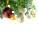 Beira do Natal com árvore do Xmas fotos de stock royalty free