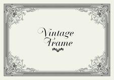 Beira do ornamento do vintage Vetor floral decorativo do quadro Imagem de Stock
