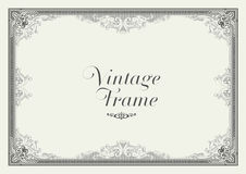 Beira do ornamento do vintage Vetor floral decorativo do quadro Imagens de Stock