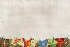 Beira do presente do Natal ilustração stock