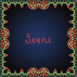 Beira do quadro na cor vermelha e verde Imagem de Stock Royalty Free