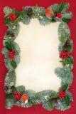Beira do sumário do fundo do Natal fotos de stock