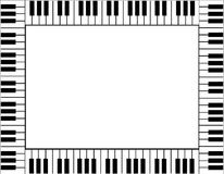 Beira do teclado de piano Imagens de Stock