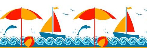 Beira do verão Imagem de Stock