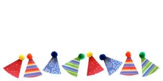 Beira dos chapéus do partido Fotografia de Stock