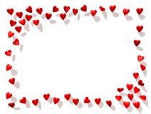 Beira dos corações Imagens de Stock