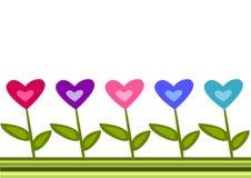 Beira dos corações Foto de Stock Royalty Free
