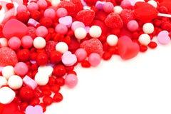 Beira dos doces do dia de Valentim Imagem de Stock