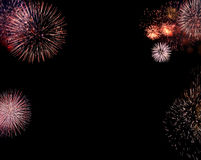 Beira dos fogos-de-artifício Imagem de Stock