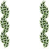 A beira e o ramo verde-oliva entregam a ilustração tirada do esboço Foto de Stock Royalty Free