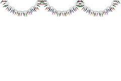 Beira e quadro das luzes de Natal Foto de Stock Royalty Free