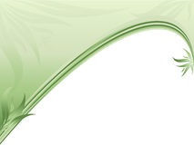 Beira ecológica abstrata com plantas Foto de Stock