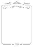 Beira elegante retro decorativa e fundo branco Fotografia de Stock